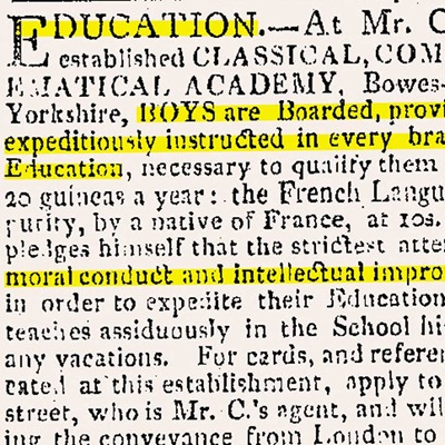 19th century non fiction teaching packs. Image taken from featured collection items in pack's content