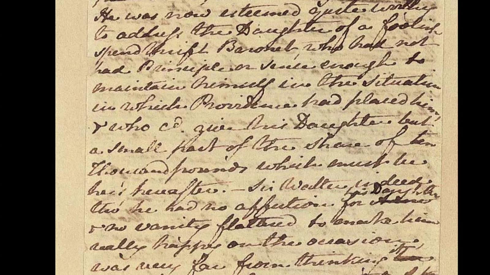 Jane Austen manuscripts