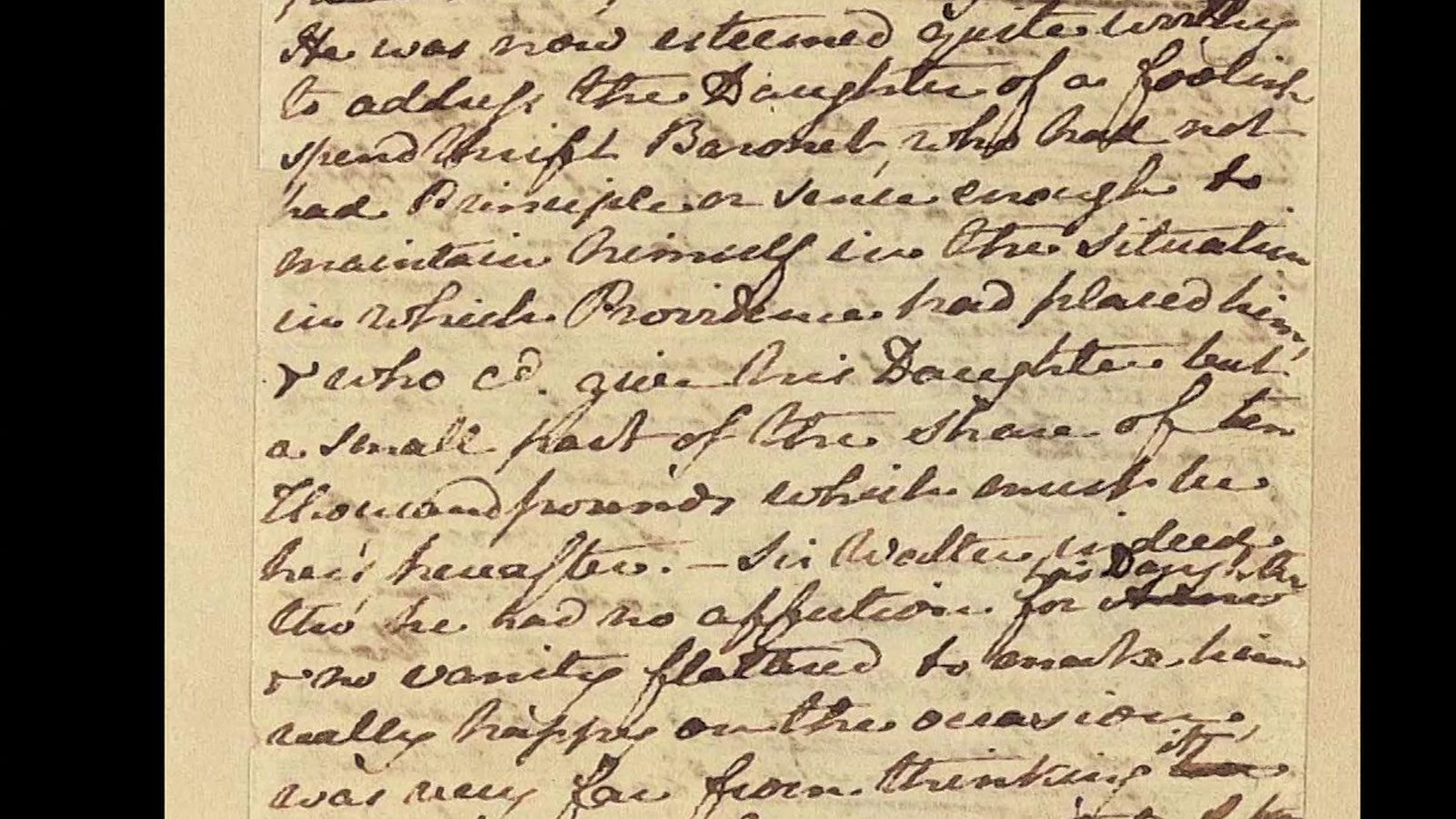 Jane Austen manuscripts