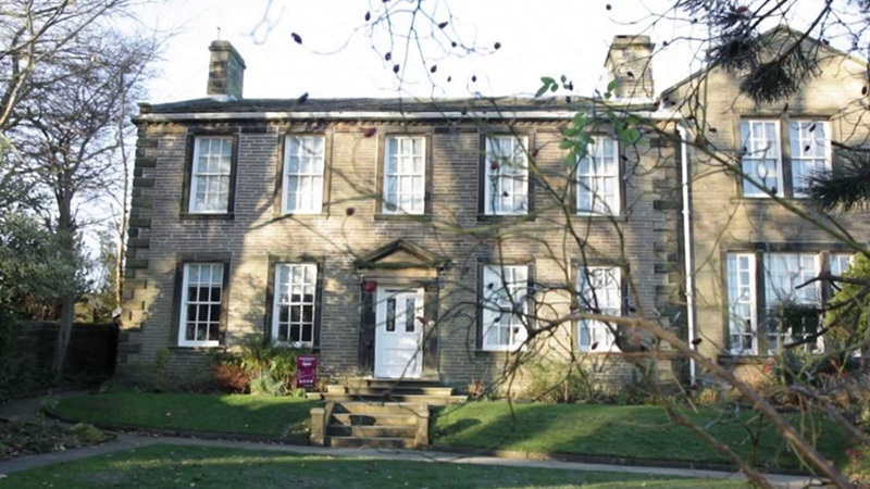 Exterior of the Bronte Parsonage Museum in Haworth, Yorkshire