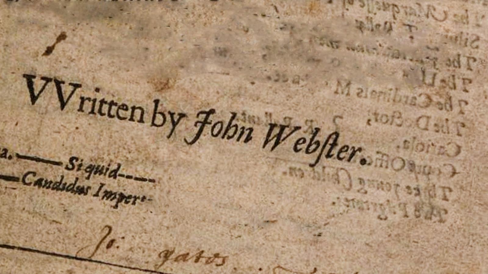 written by John Webster