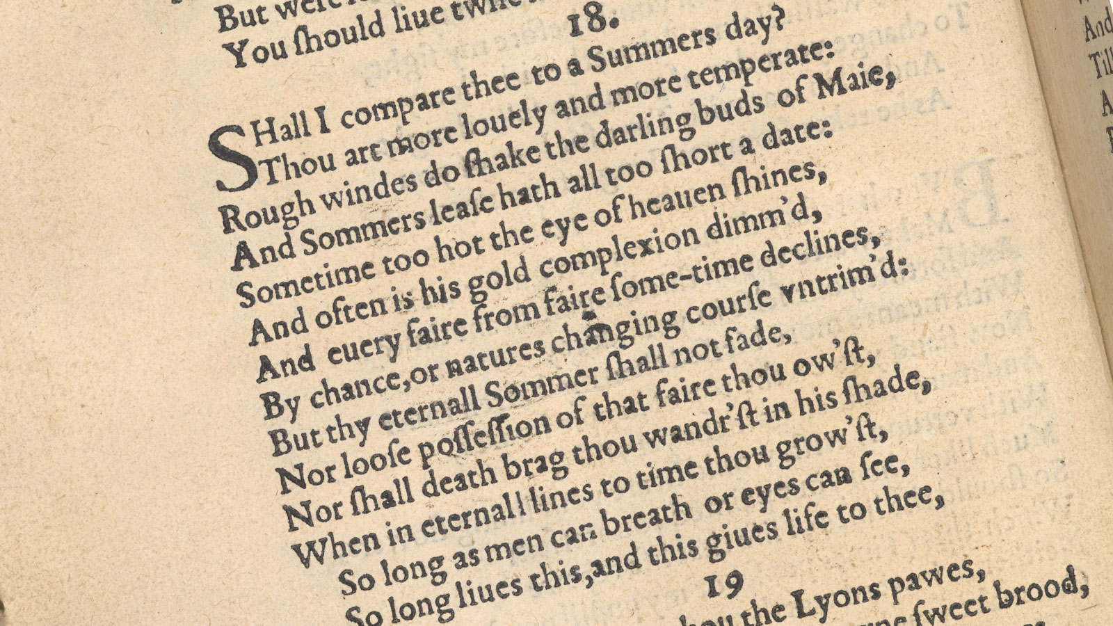 Translating Shakespeare's Sonnet 18