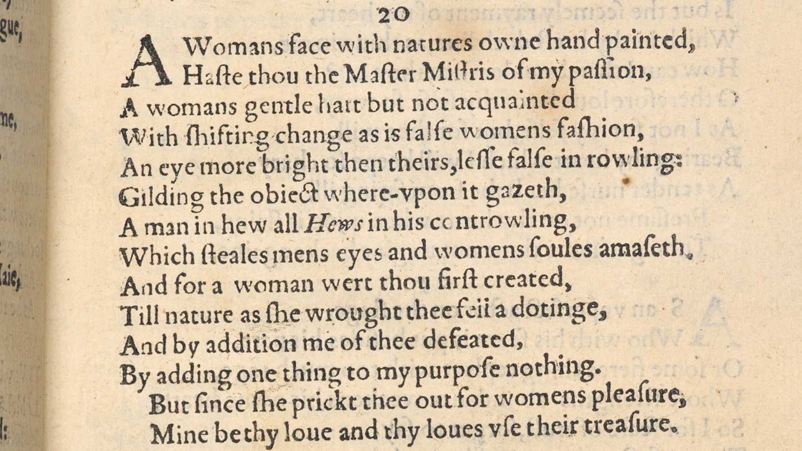 Shakespeare, sexuality and the sonnets