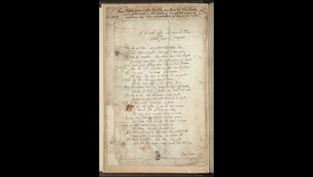 Ben Jonson's Works with autograph poem on the marriage of the Earl of Somerset