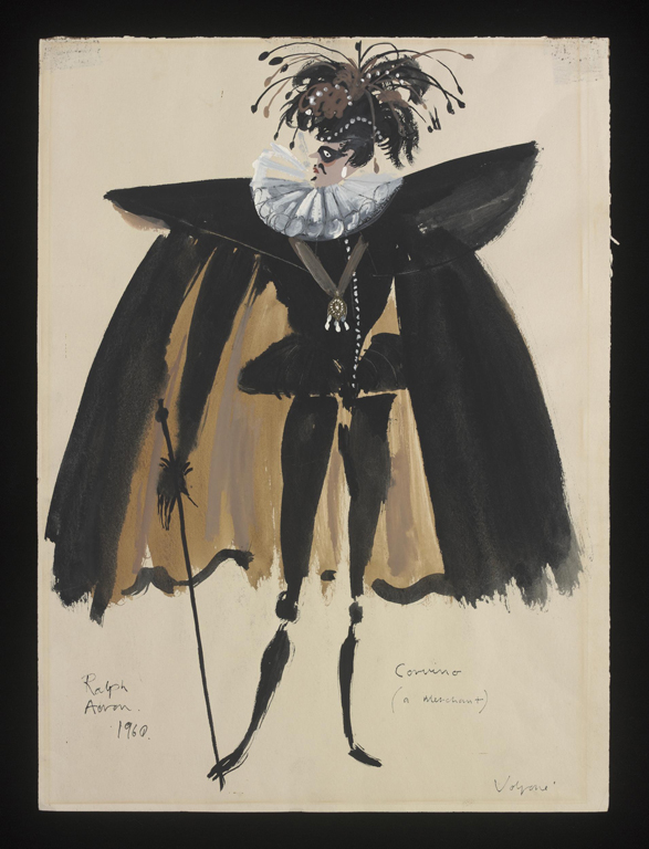 Costume Design for Volpone, by Ralph Adron 1960