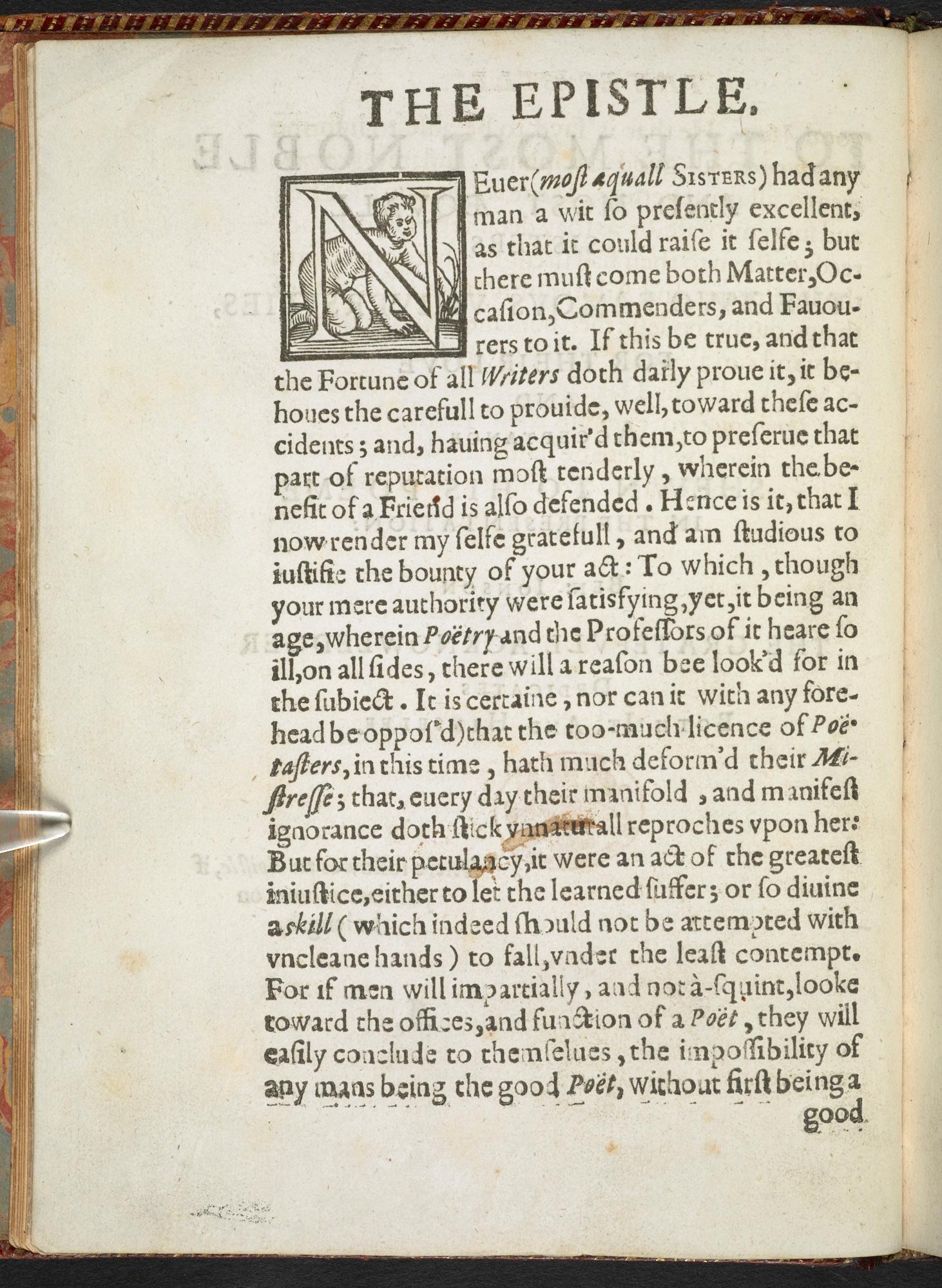 First edition of Ben Jonson's Volpone, 1607
