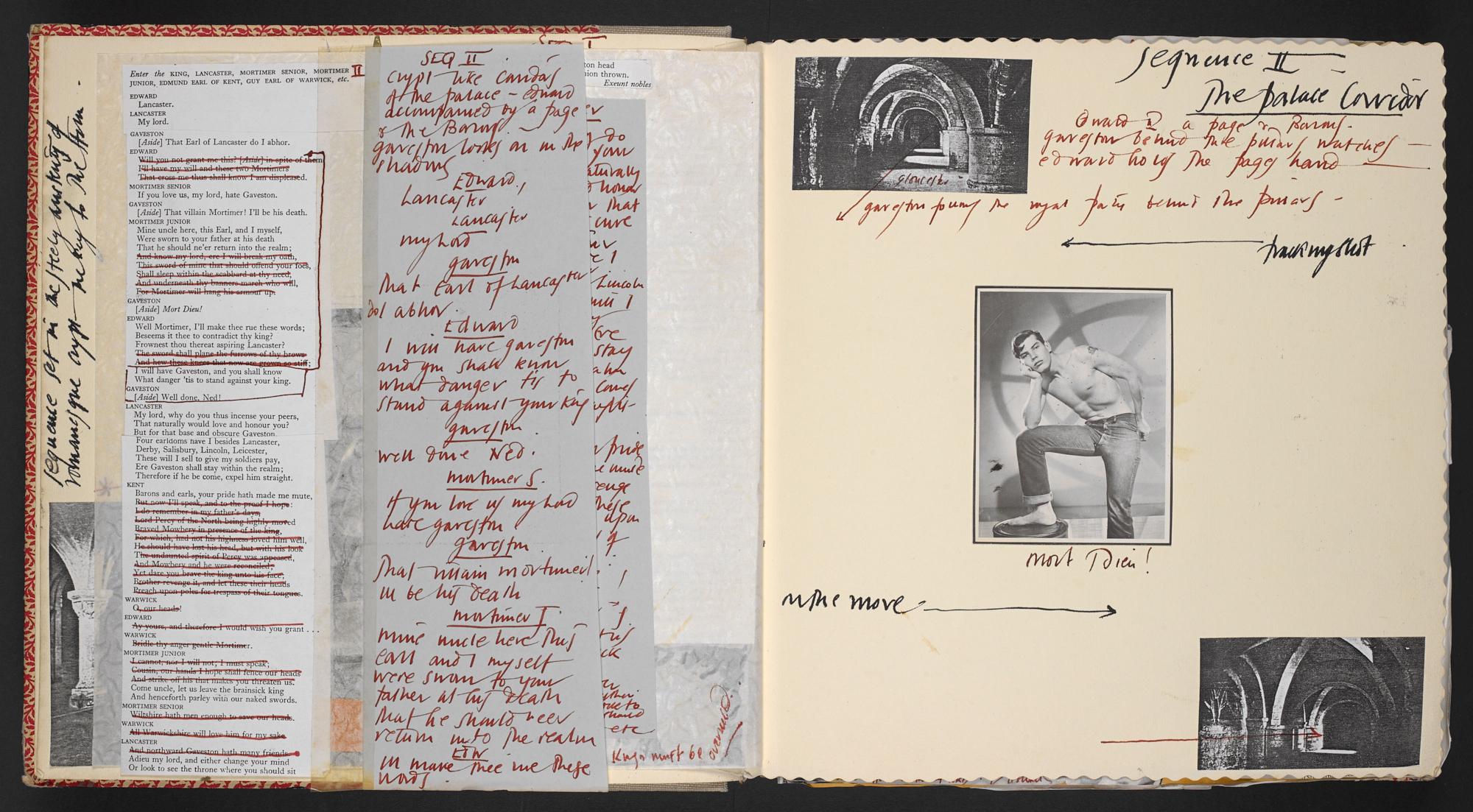 Derek Jarman's 'Sex and Violence: Sod 'em'/ 'Edward II' sketchbook
