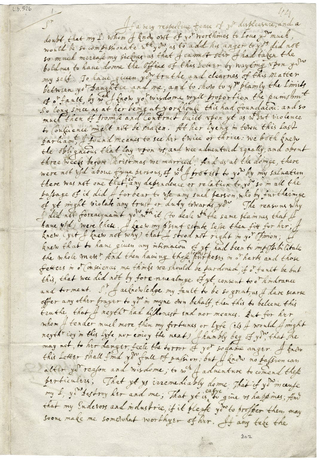 Letters from John Donne about his secret marriage to Ann More