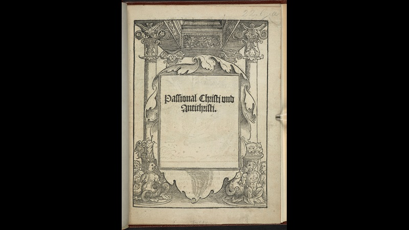 Luther's anti-papist pamphlet, Passional Christi und Antichristi, 1521