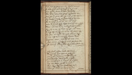 Poems by Shakespeare, Donne and others in I. A.'s 17th-century commonplace book