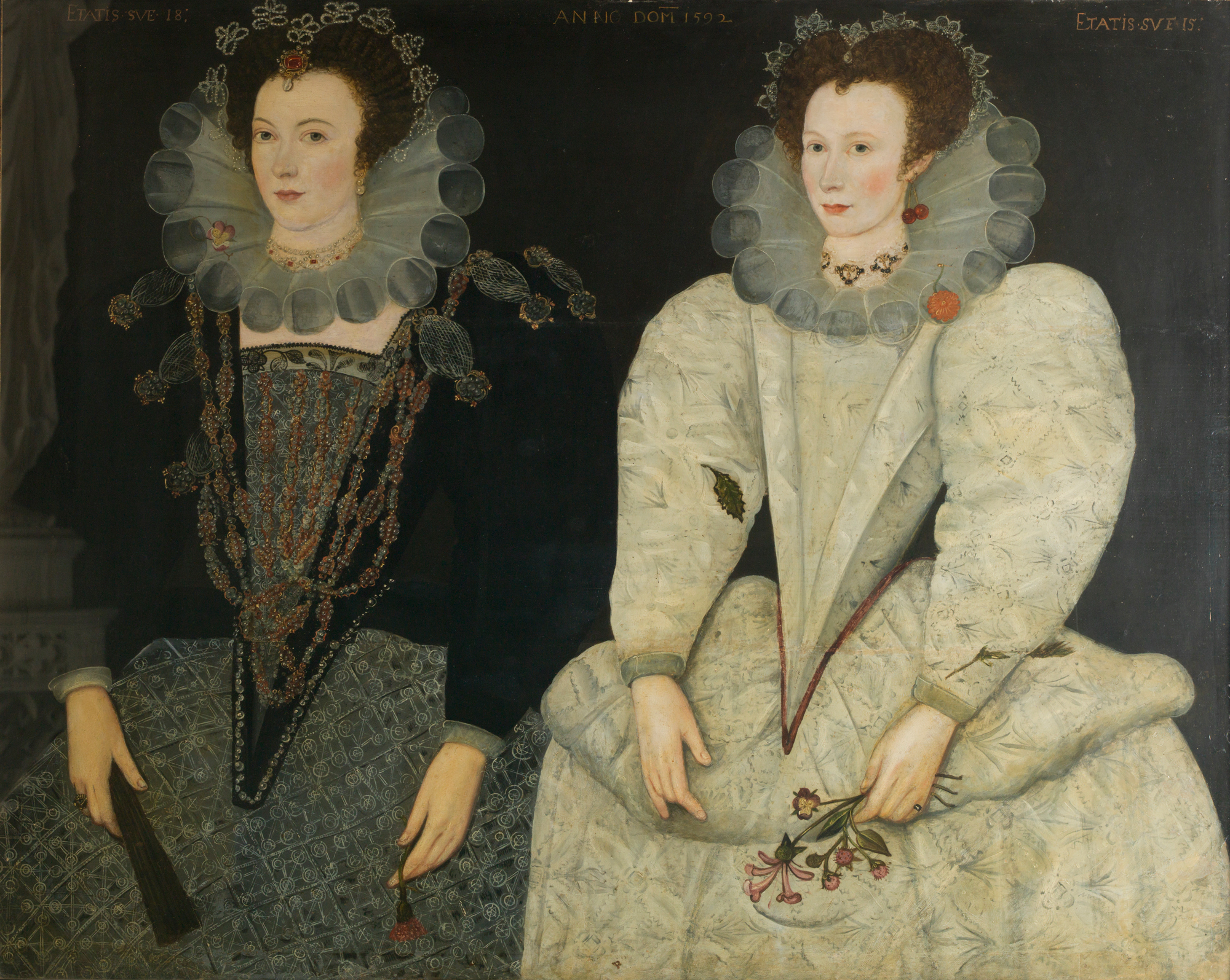 Portrait of Anne Newdigate and Mary Fitton, 1592