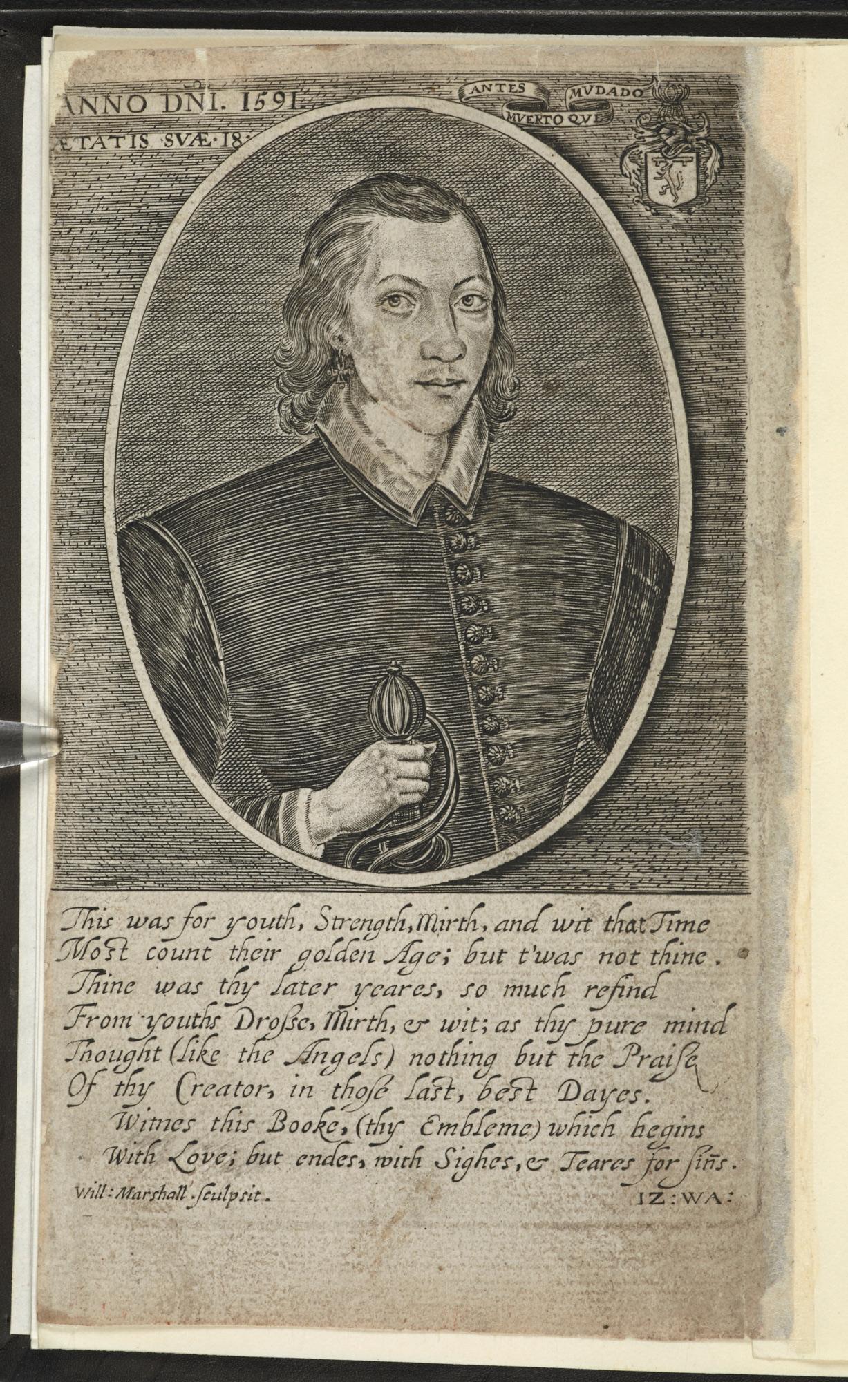 Portrait of John Donne, aged 18