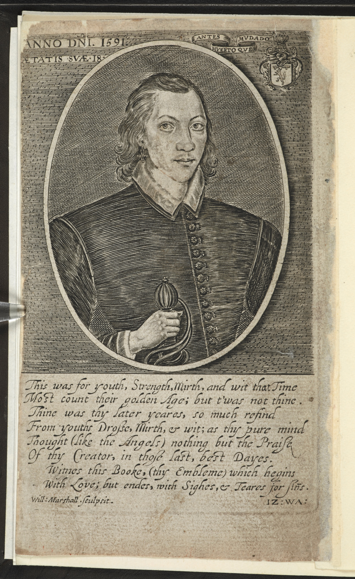 Portrait of John Donne, aged 18
