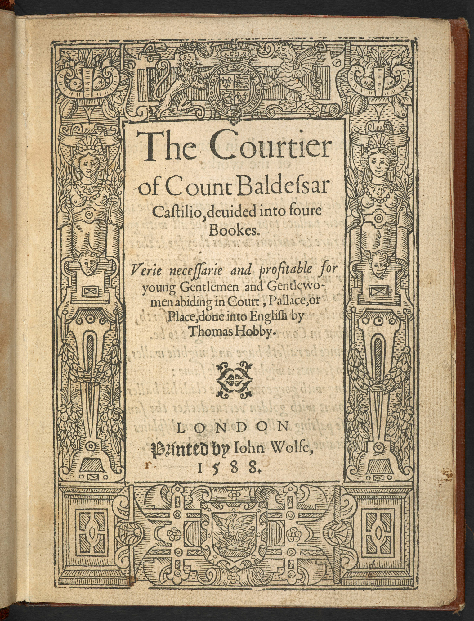 The Book of the Courtier, 1588