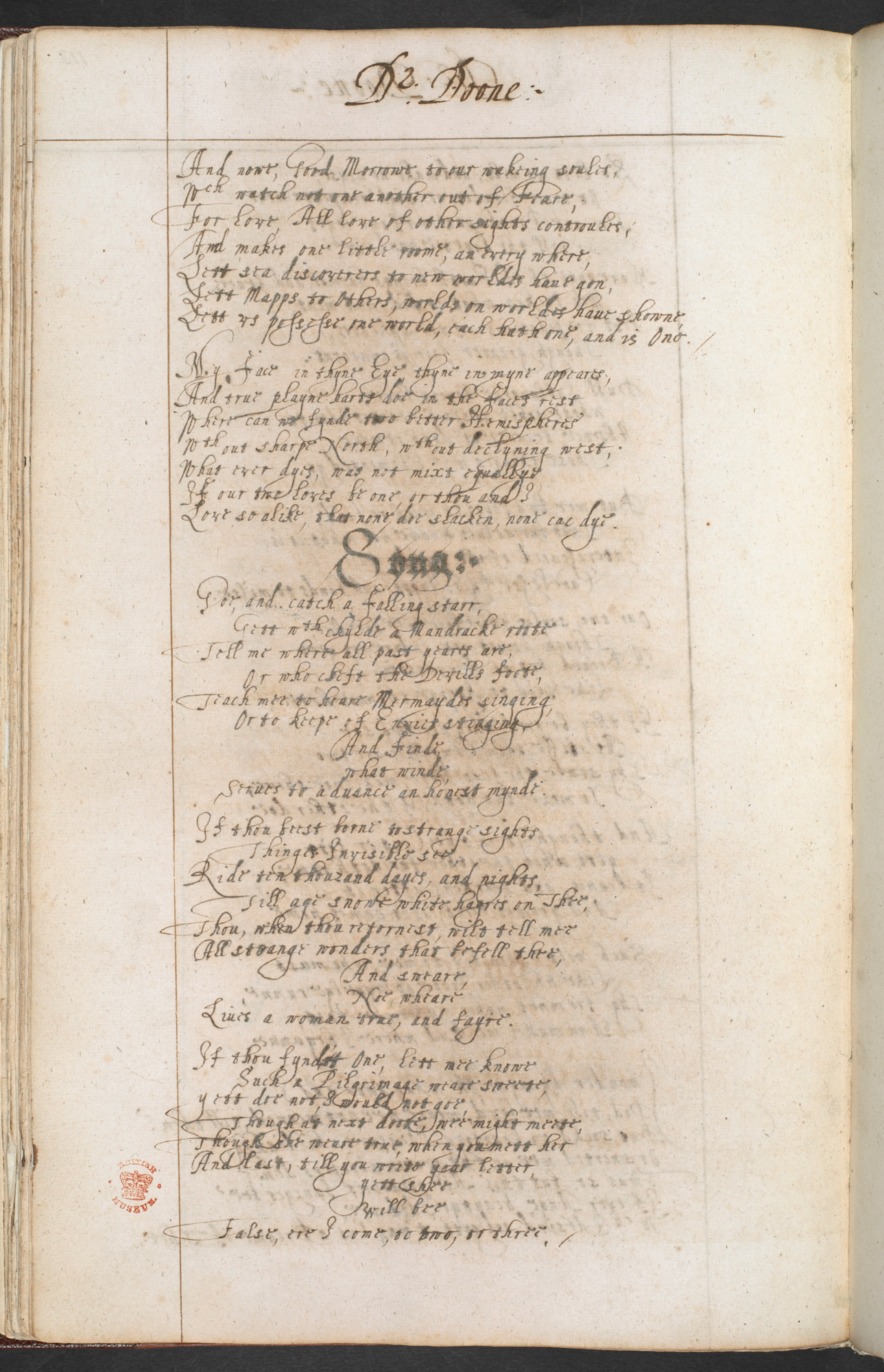 Works by John Donne and Ben Jonson in the Newcastle Manuscript