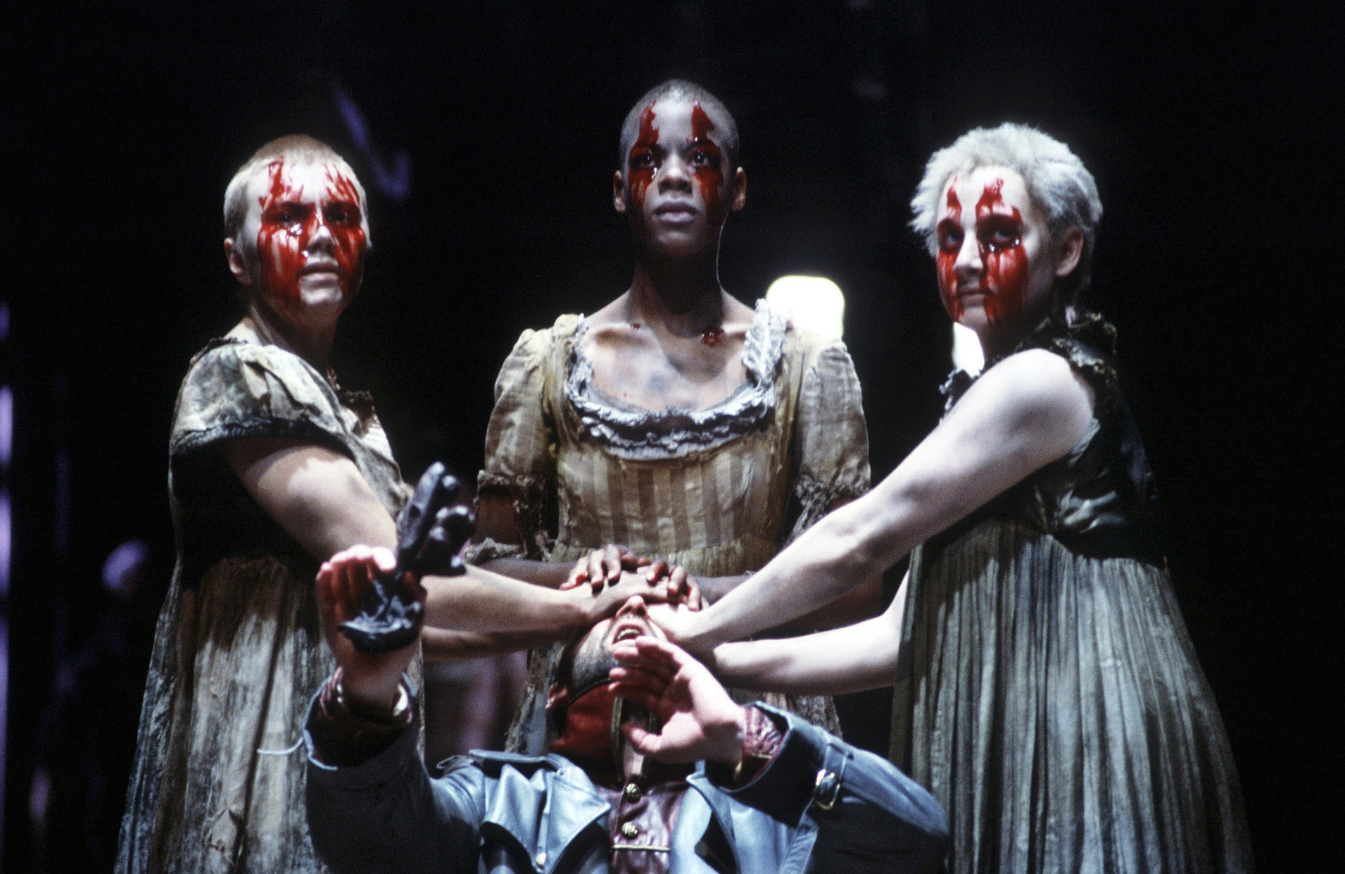 The three witches from Shakespeare's Macbeth.