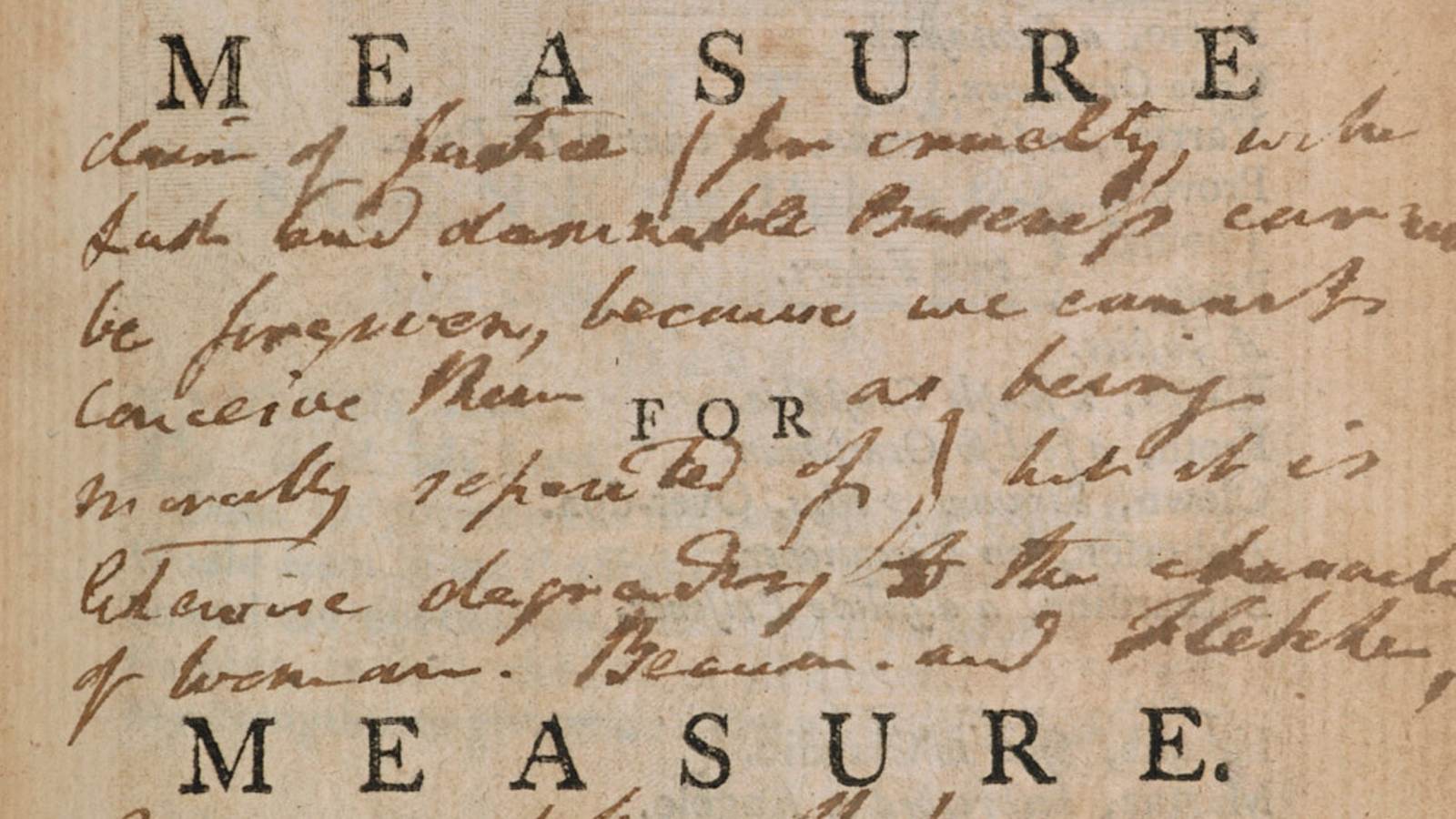 Measure For Measure As A Problem Play The British Library