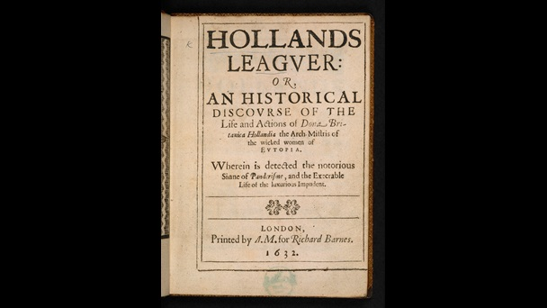 17th-century brothel in Nicholas Goodman's Holland's Leaguer