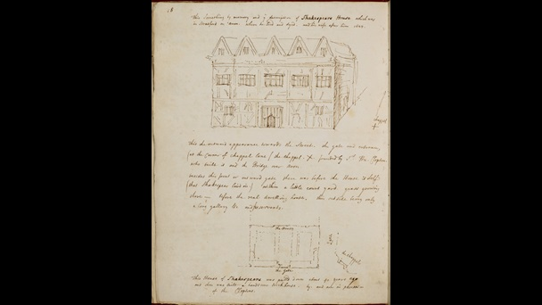 Drawing of New Place by George Vertue