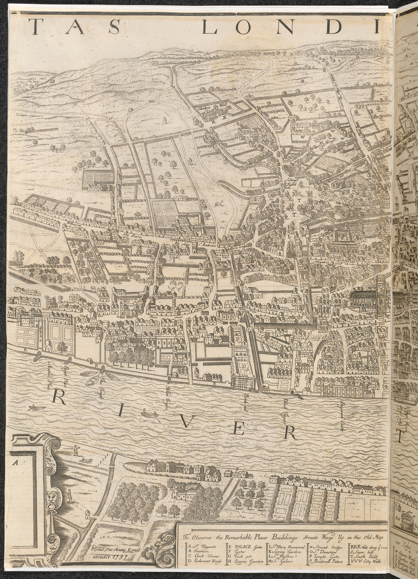 London 1600 Map.Agas Map Showing Blackfriars Precinct And Its Proximity To The Royal