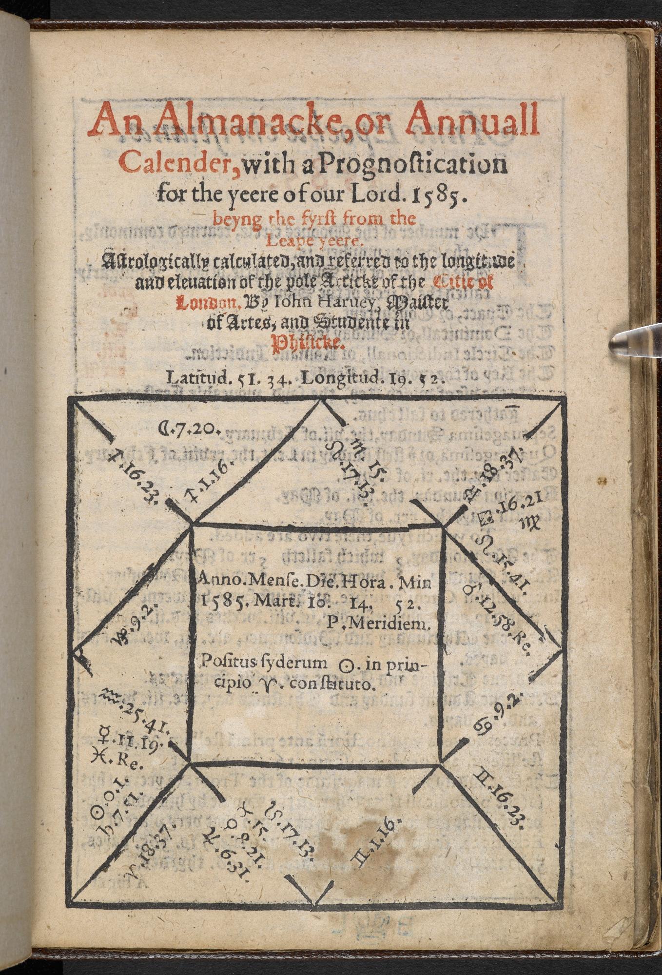 Almanac for 1585