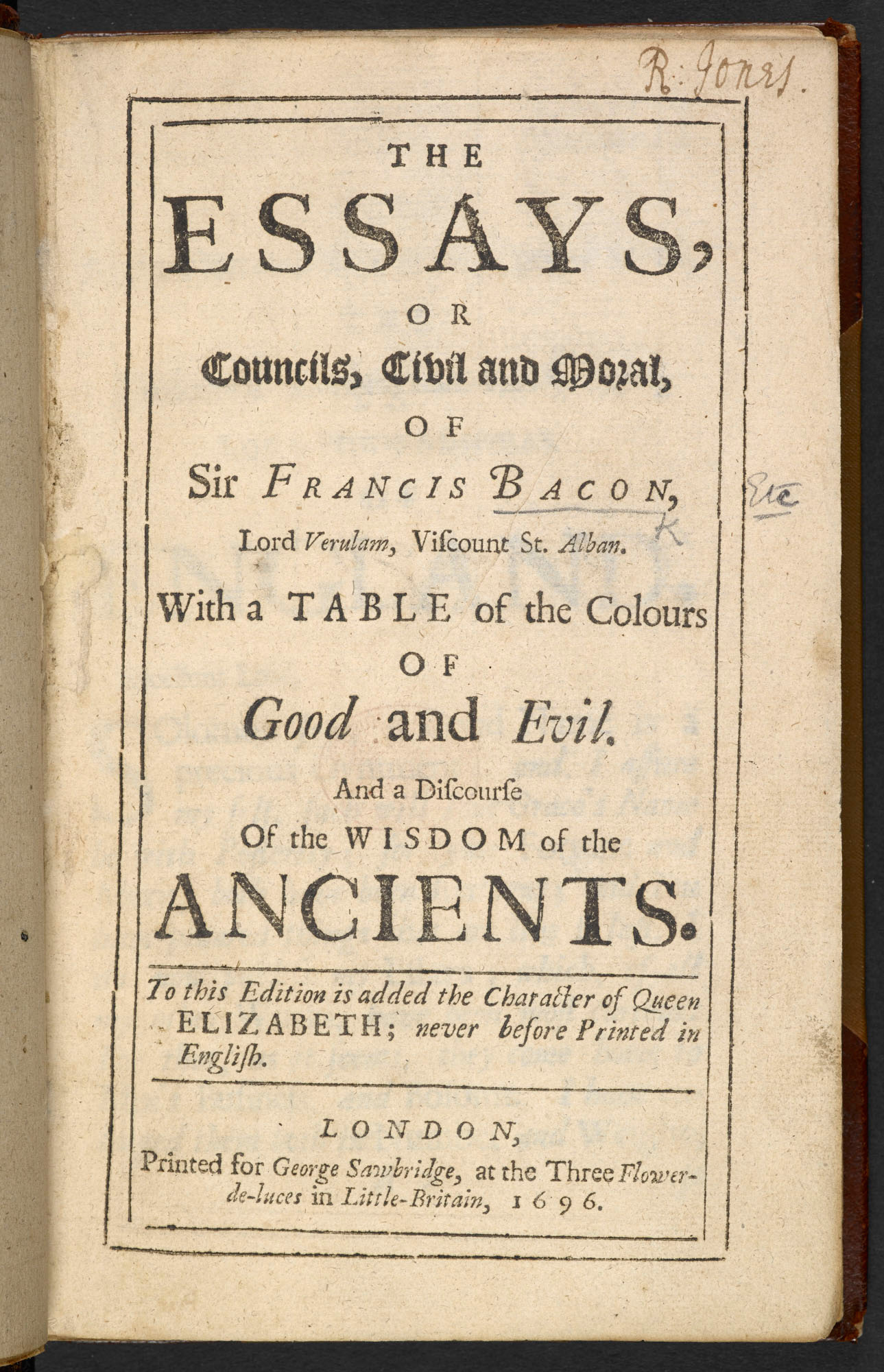Bacons Essays On Revenge Envy And Deformity  The British Library