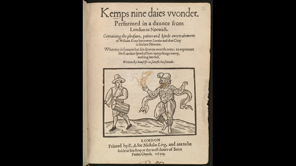 Will Kemp's Nine Days Wonder, 1600