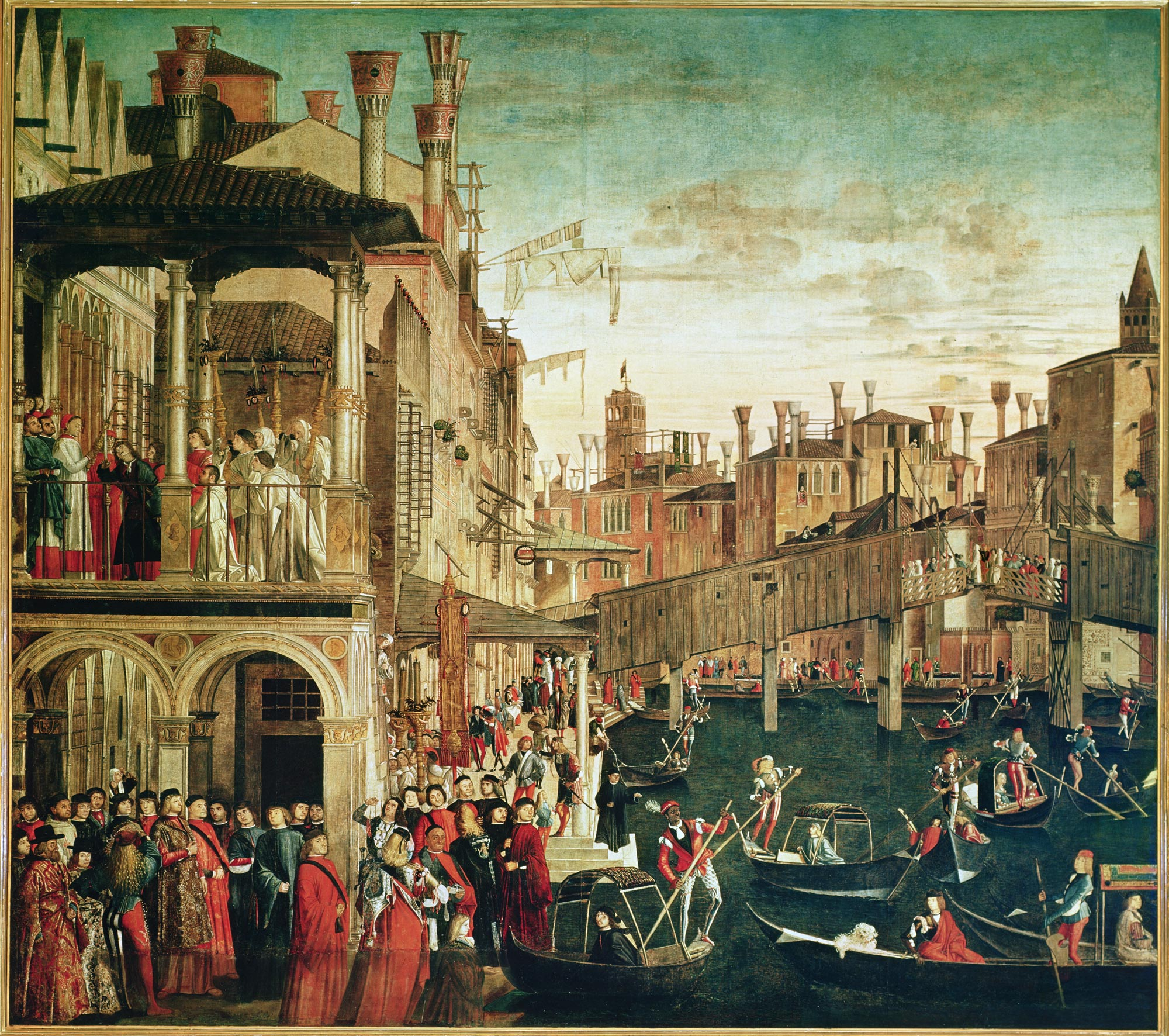 Carpaccio's Miracle of the Relic of the True Cross on the Rialto Bridge