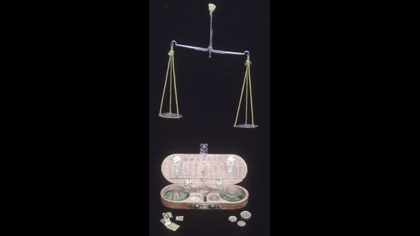 17th-century scales and coin weights