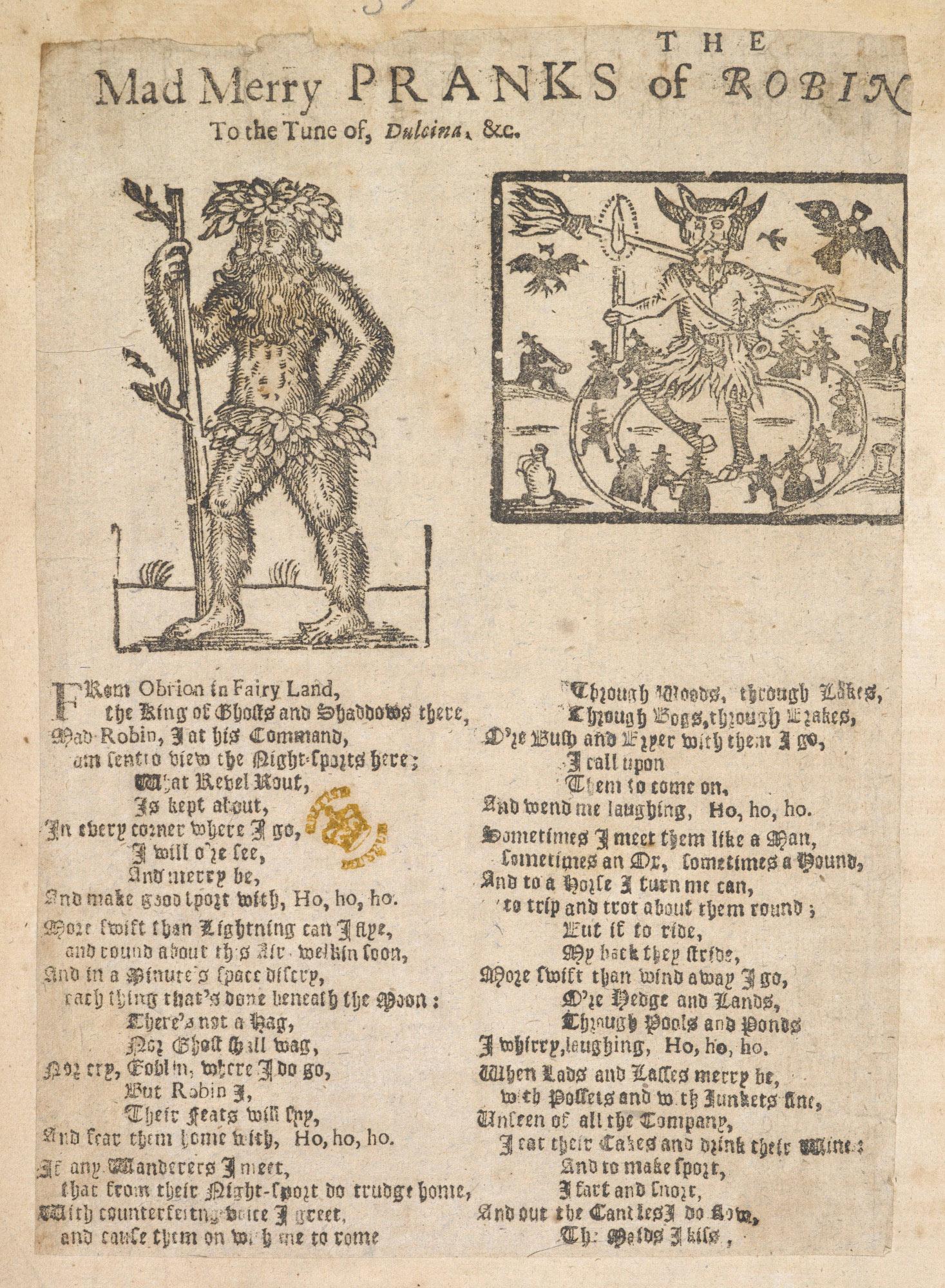 Broadside ballad on Robin Goodfellow