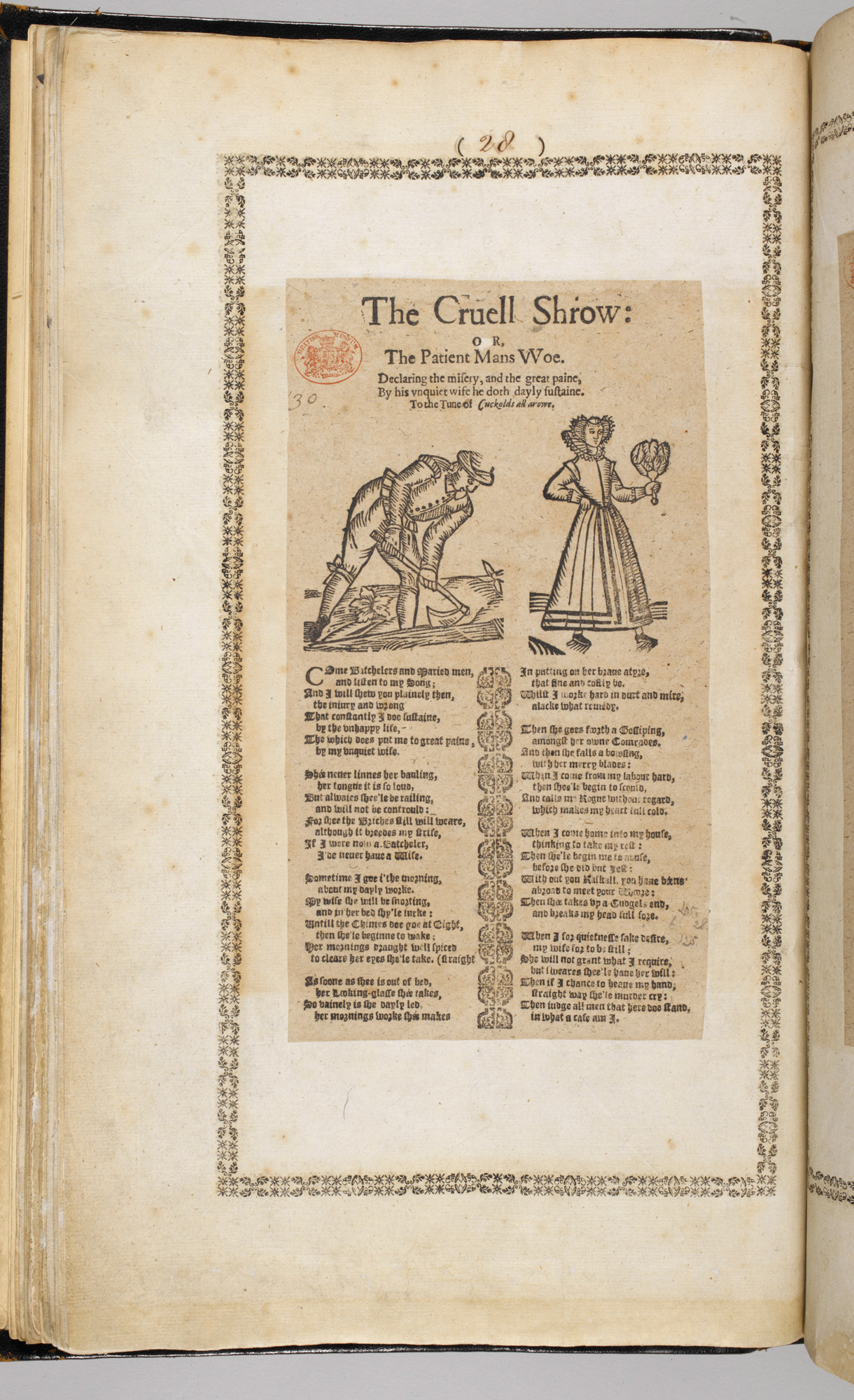 Broadside ballad on the Cruel Shrew