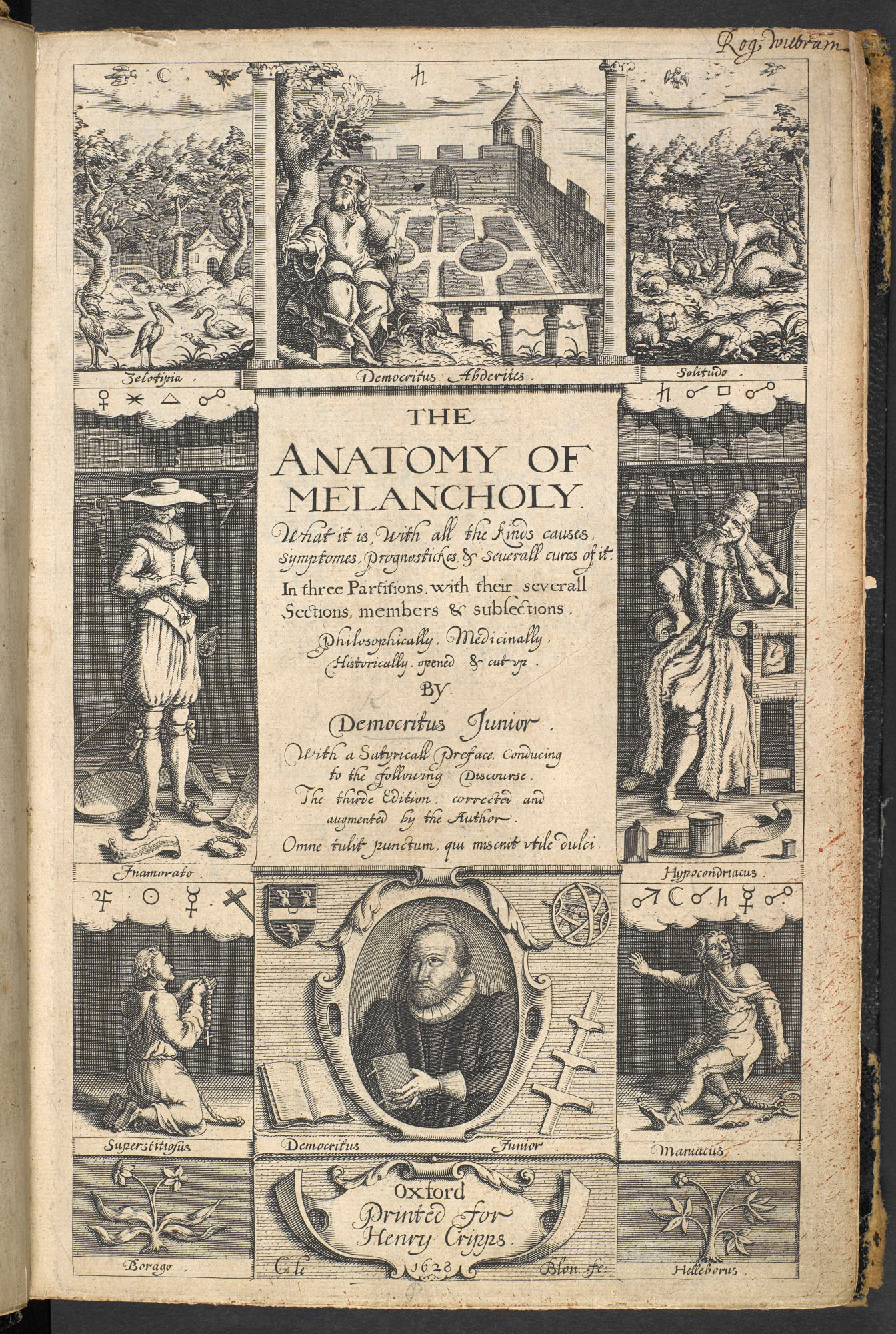 Burtons Anatomy Of Melancholy 1628 The British Library