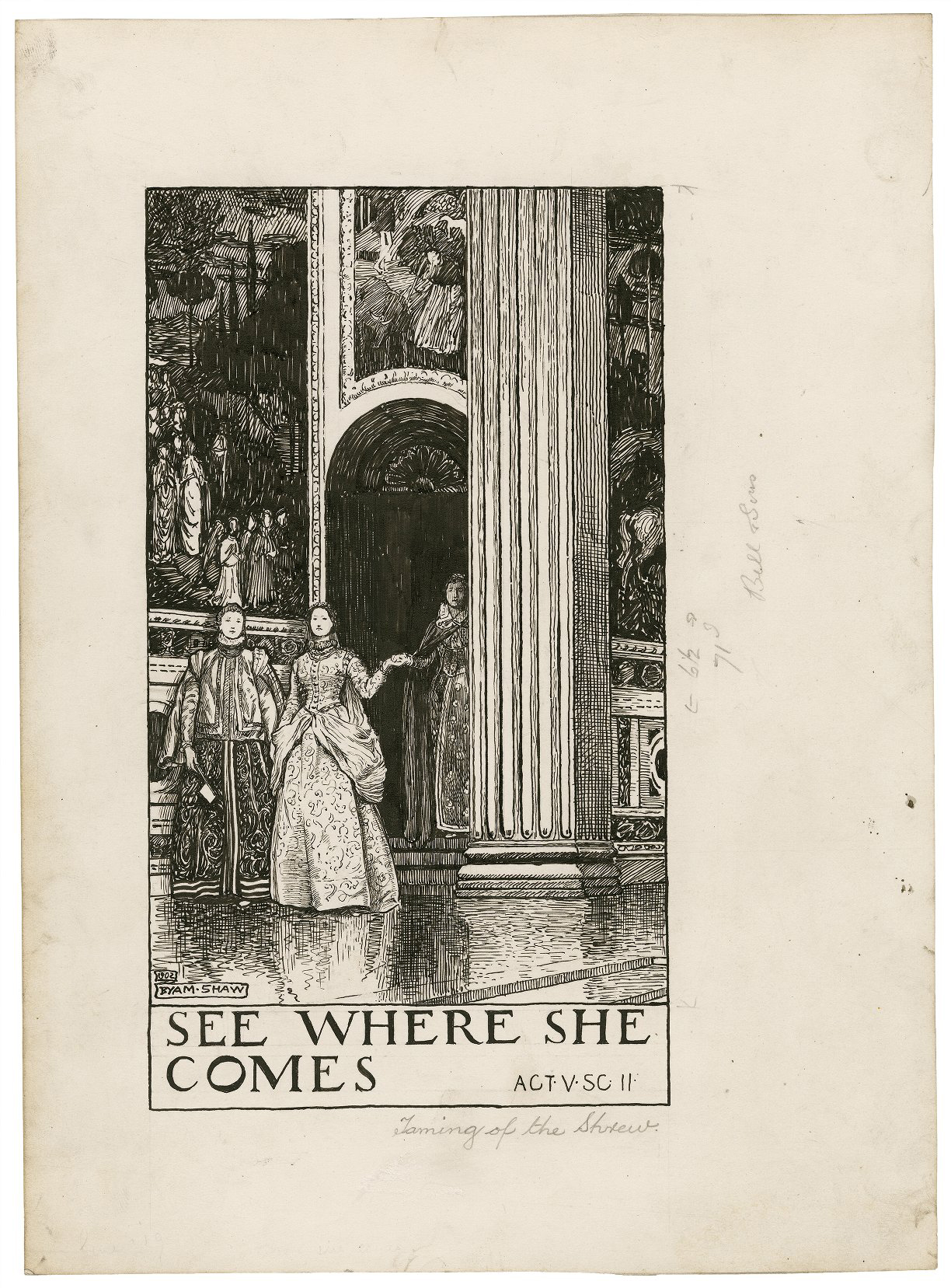 Byam Shaw's illustrations for The Taming of the Shrew, c. 1900