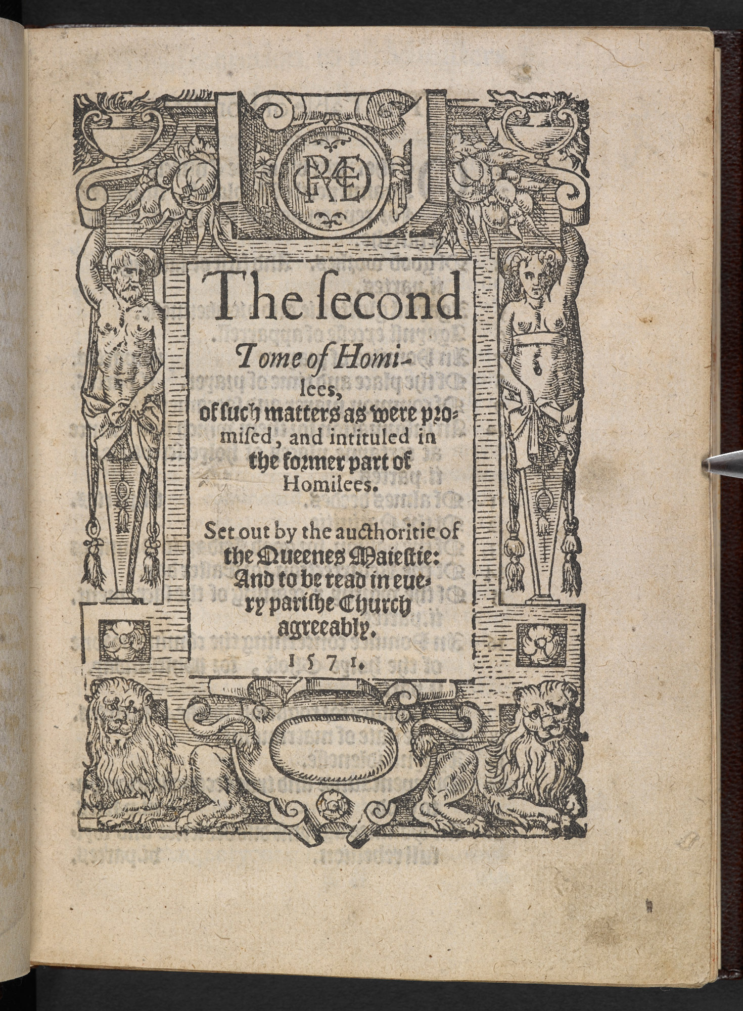 Certain Sermons or Homilies Appointed to be Read in Churches, 1571
