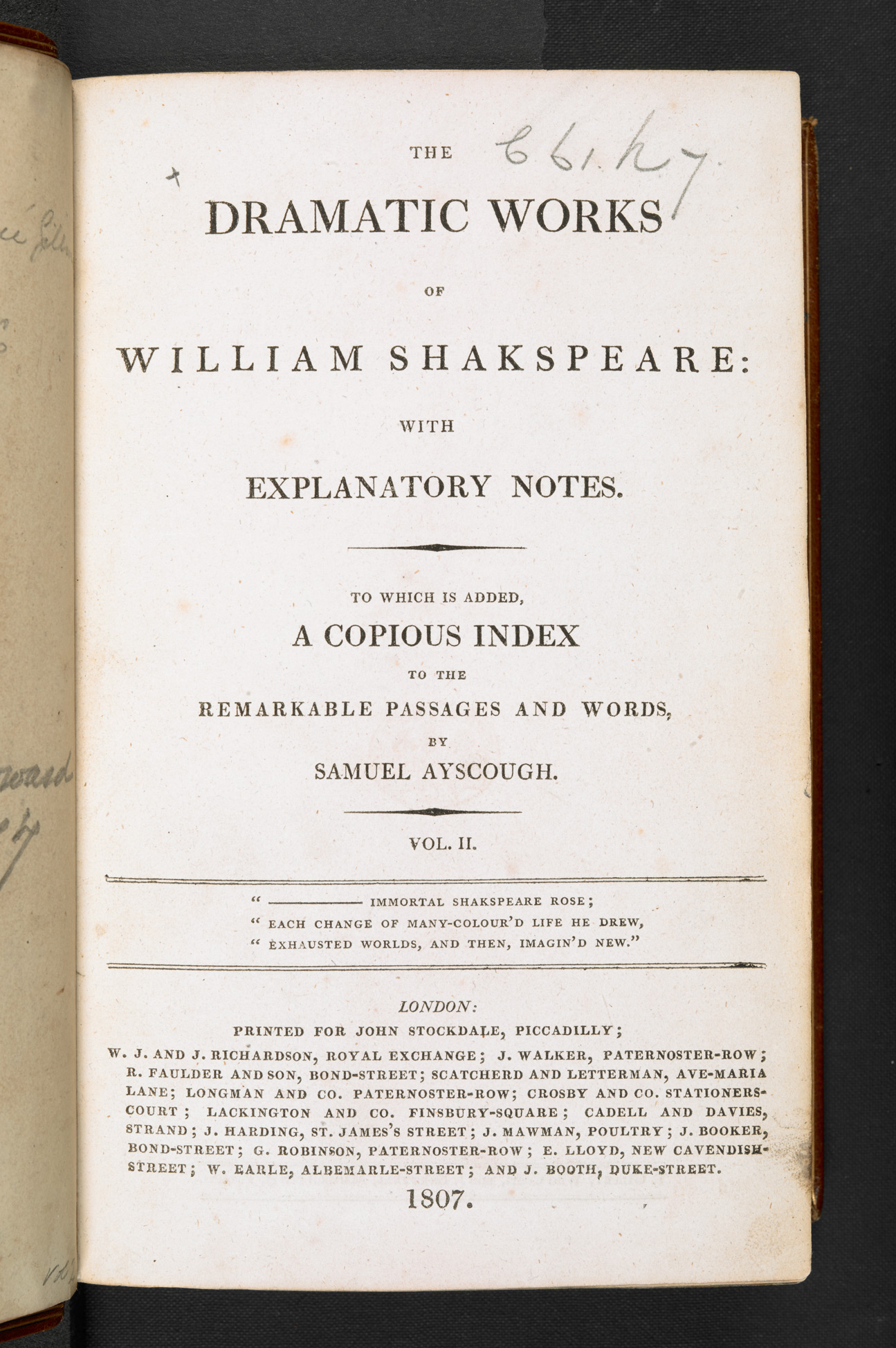 Coleridge's annotated copy of Shakespeare
