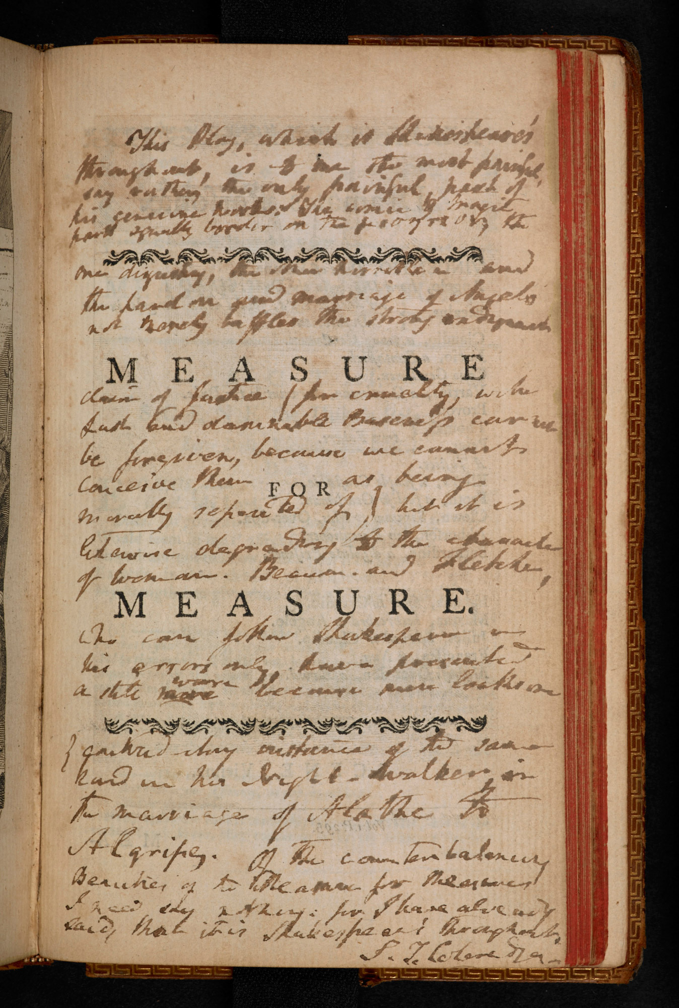 Coleridge's notes on Measure for Measure