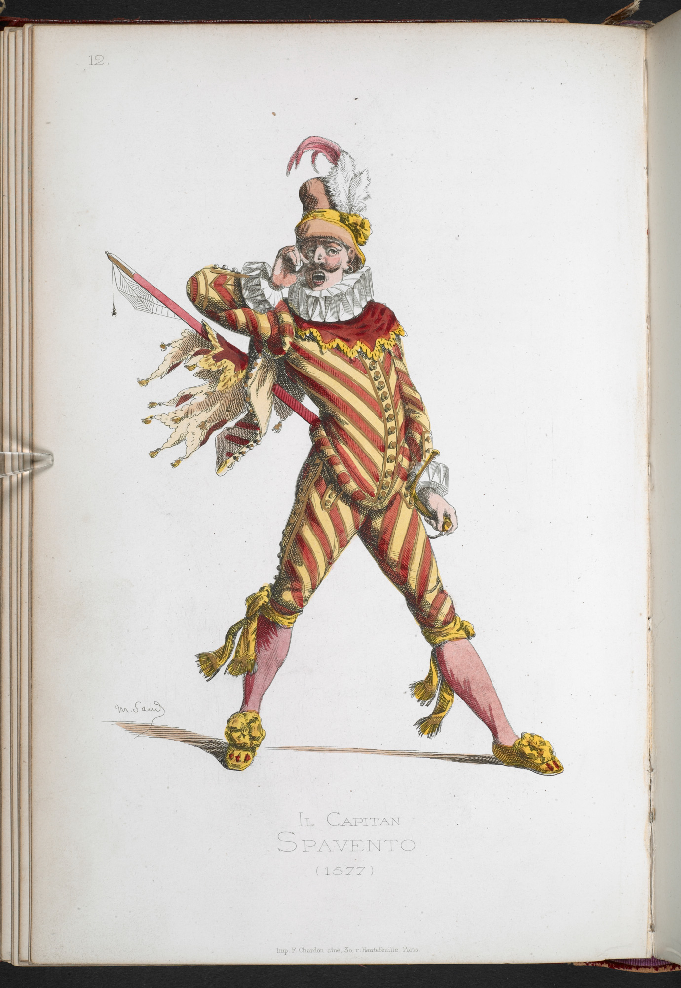 Commedia dell'arte figures by Maurice Sand, 1860