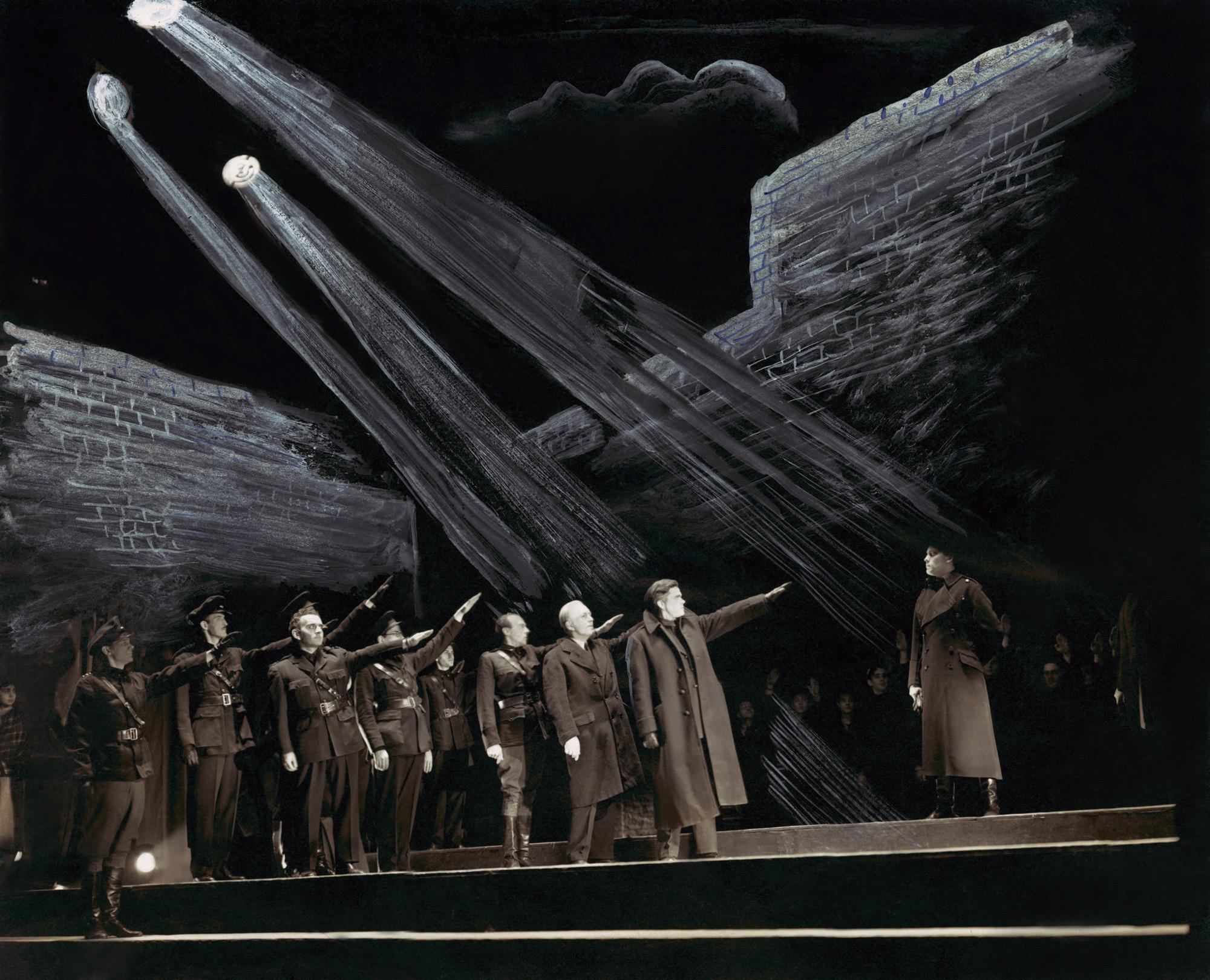 Photograph of Orson Welles as Brutus in Julius Caesar
