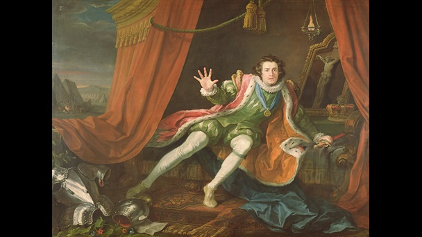 David Garrick as Richard III, by William Hogarth