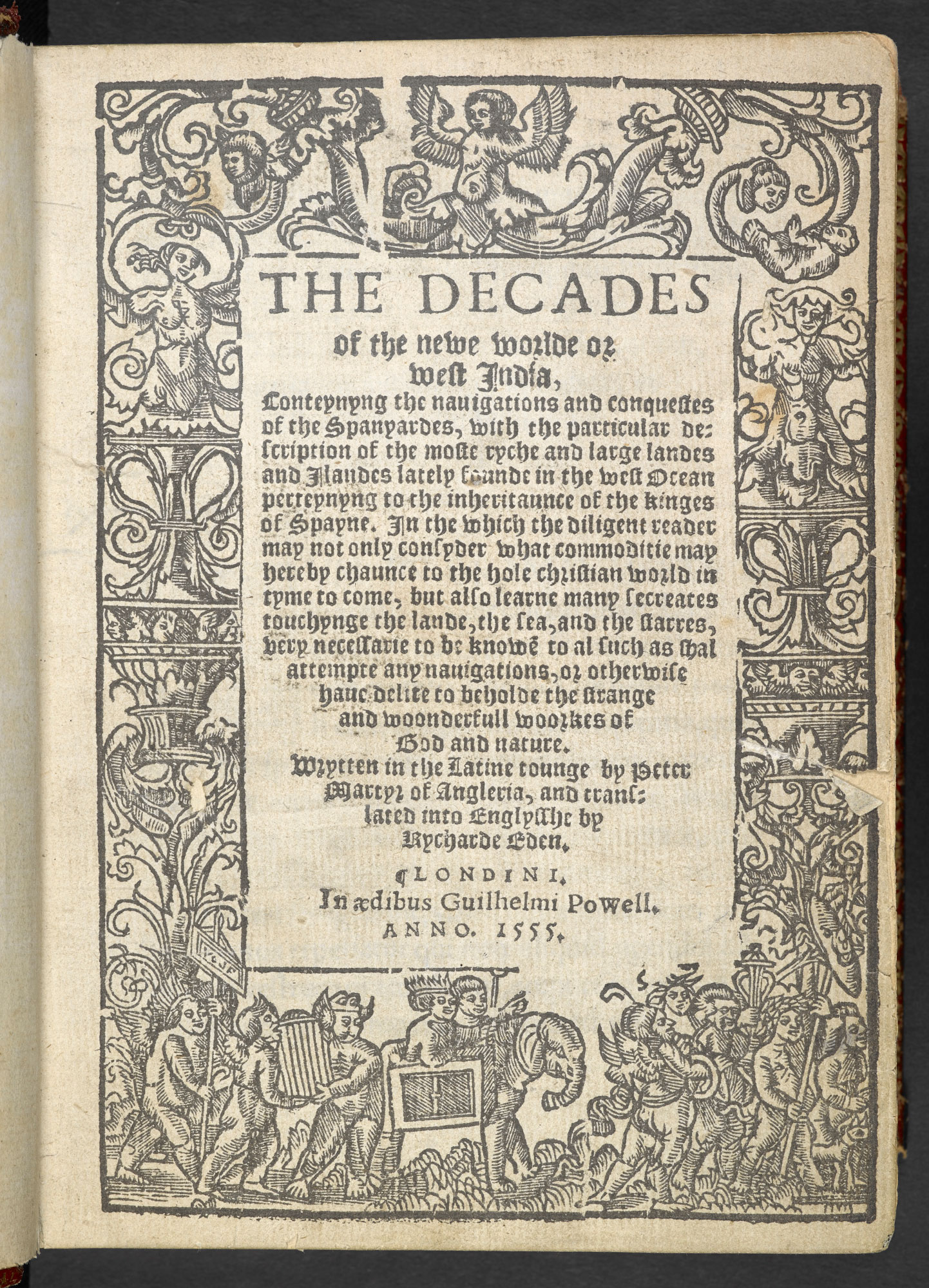 Eden's Decades of the New World, 1555