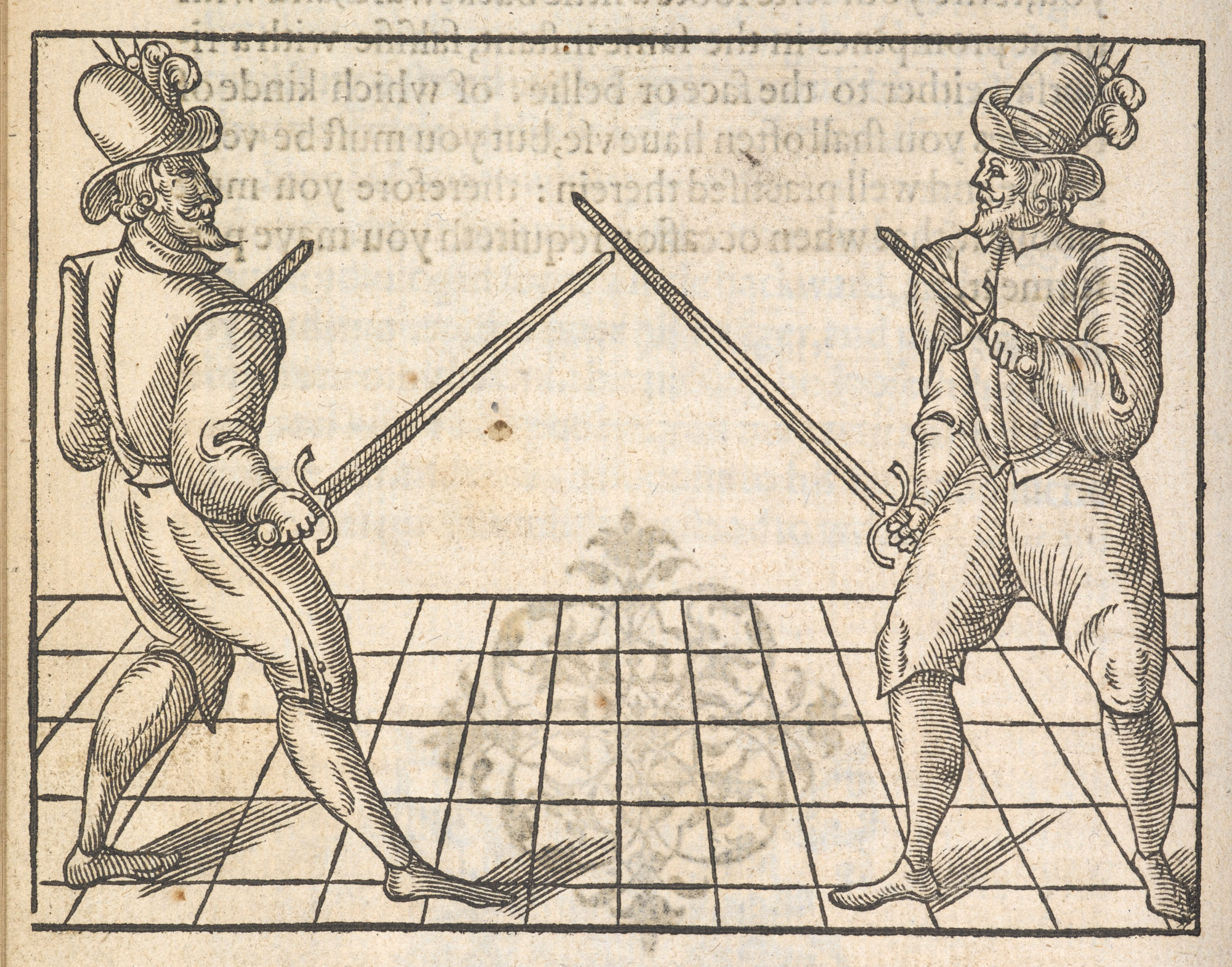 Elizabethan fencing manual