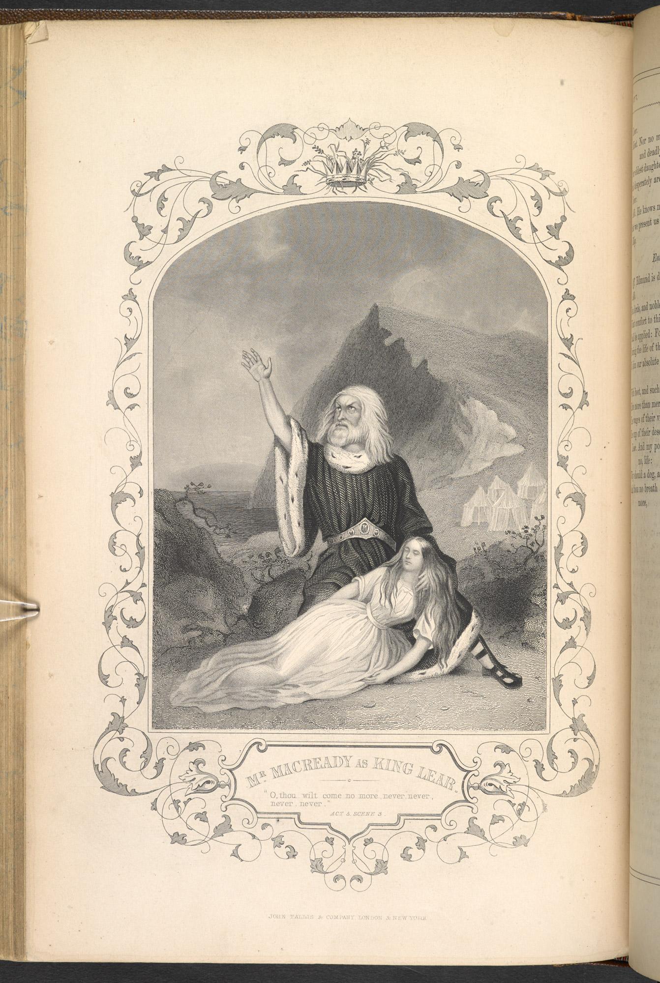 Engraving of Charles Macready as King Lear
