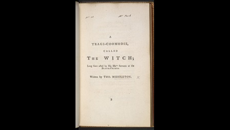 First edition of Middleton's The Witch