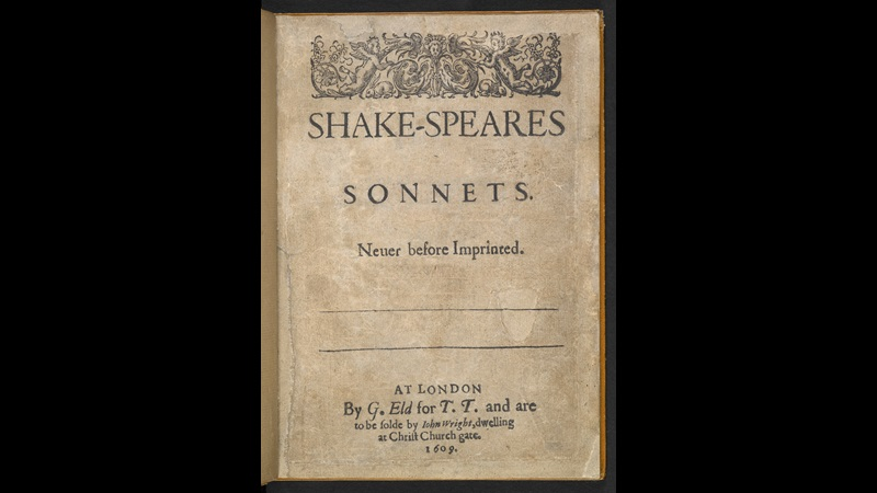 First edition of Shakespeare's Sonnets, 1609