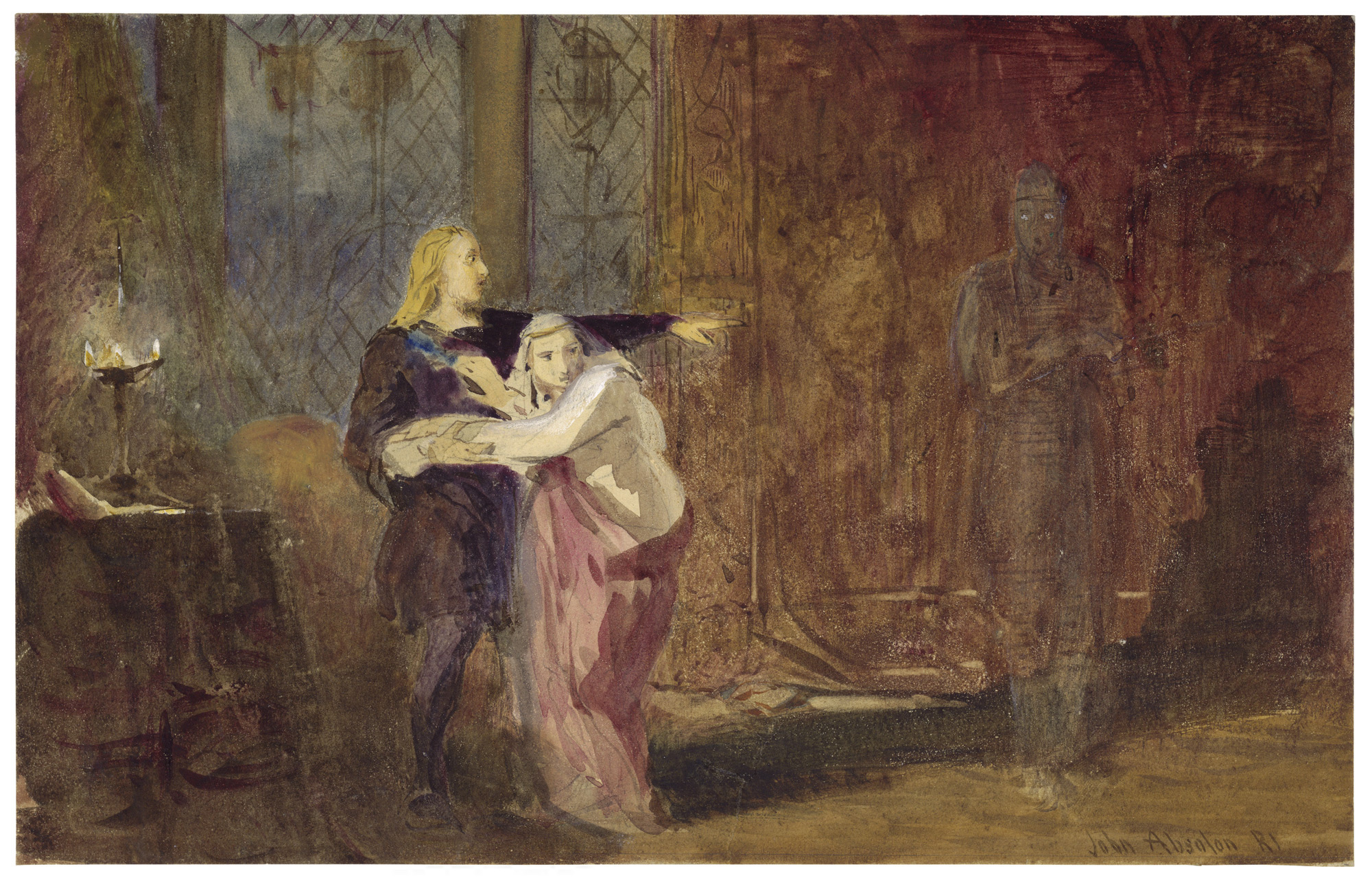 Edmund Kean as Hamlet with ghost