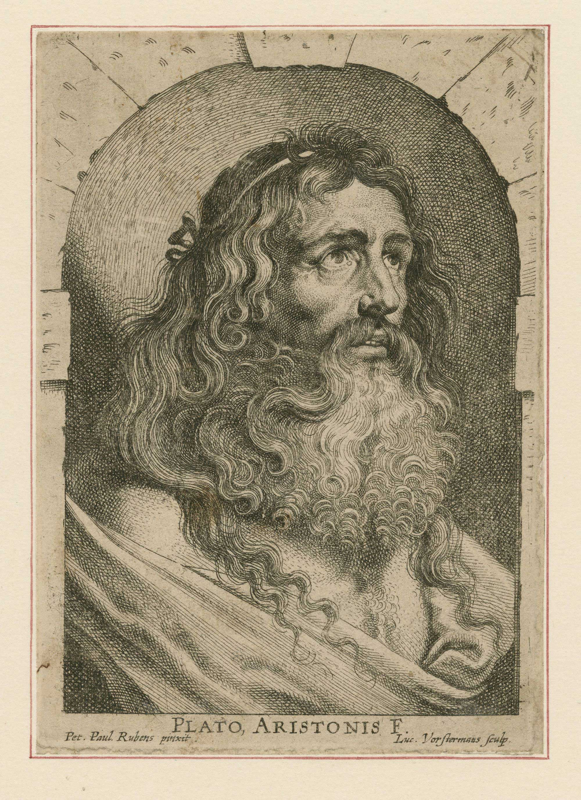 Engraving of Plato