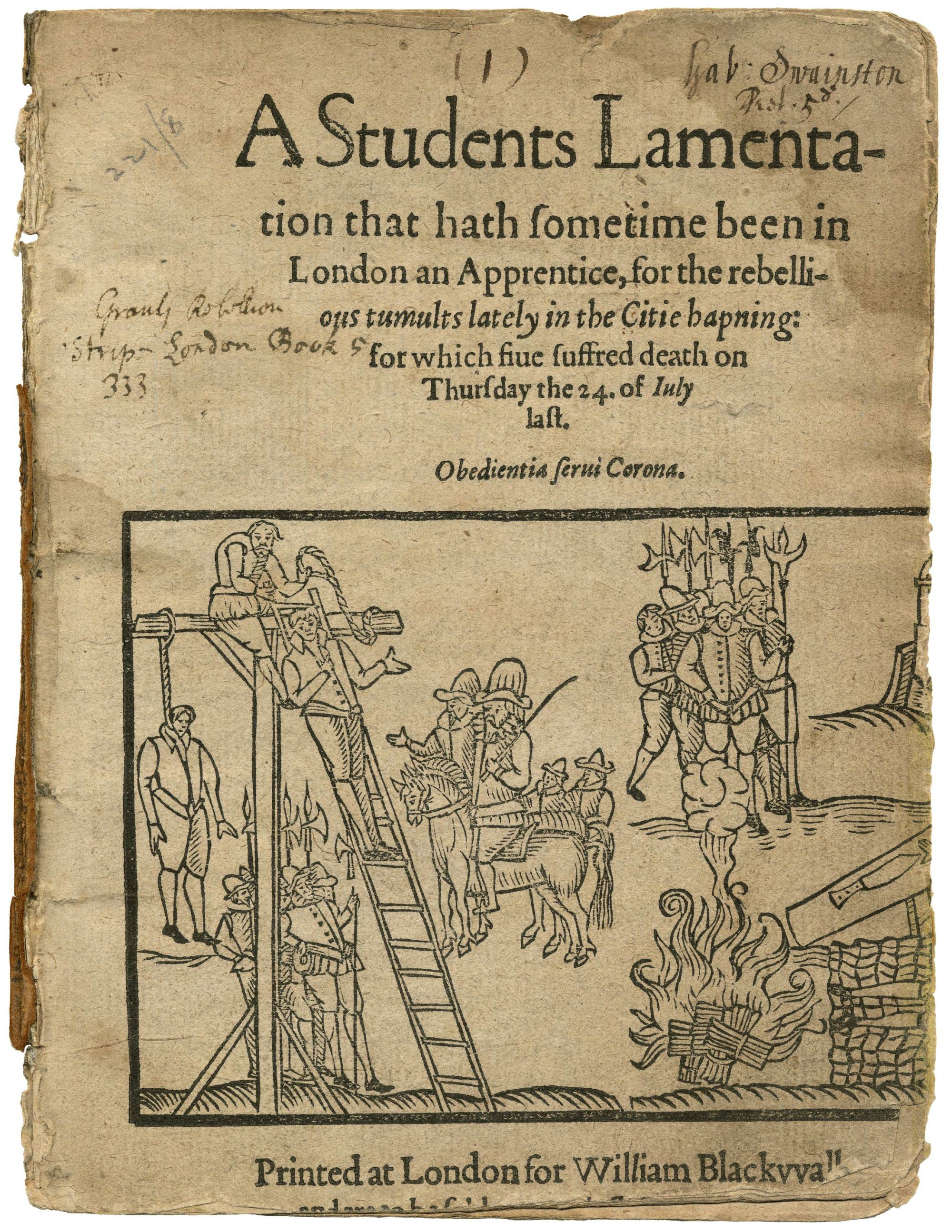 Rebellion by London apprentices in 1595