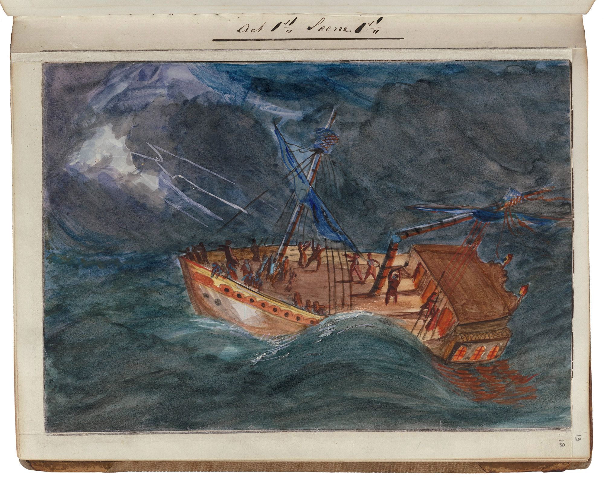 Set Designs for Charles Kean's 1857 production of The Tempest which required over 140 stage hands to move the elaborate scenery