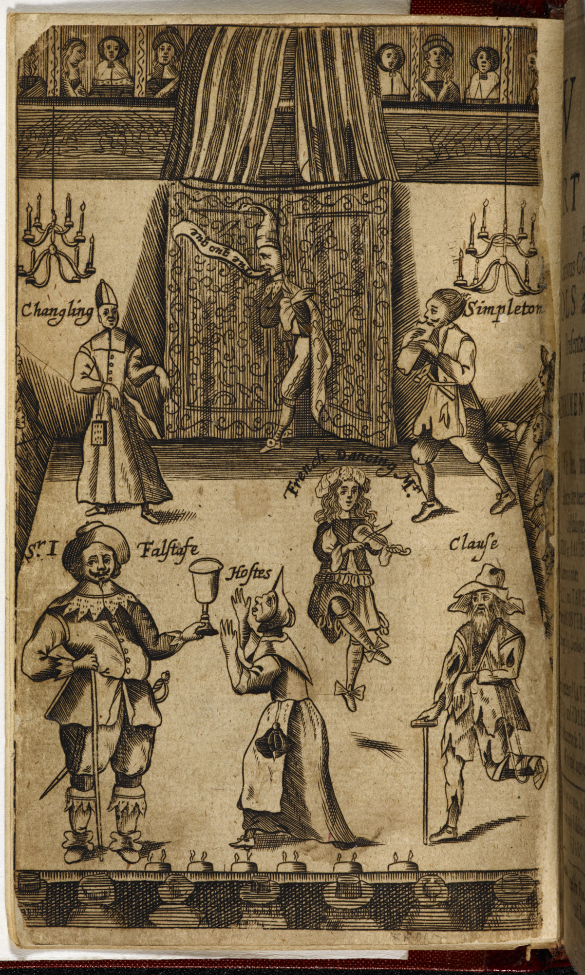 Frontispiece to The Wits, showing chandelier