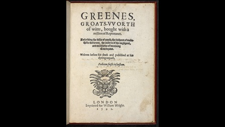 Greene's Groats-Worth of Wit